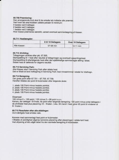 Klubmesterskabsbestemmelser 2011 samt anden information