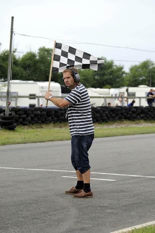 Målflag (foto: Dennis Bjerringfelt, Karting i Billeder)